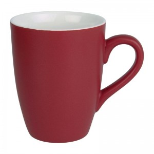 Taza mug Olympia porcelana rojo pastel mate 320ml (Caja 6). 6 ud. cs043