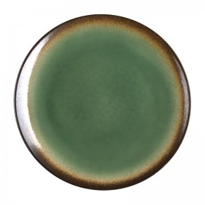Plato llano Olympia Nomi Coupe verde 254()mm (Caja 4). 4 ud. cw527