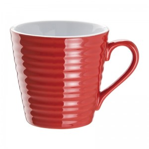 Taza de caf' Aroma Olympia roja - 340ml (Caja 6). 6 ud. dh632