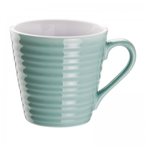 Taza de caf' Aroma Olympia azul turquesa-340ml (Caja 6). 6 ud. dh635