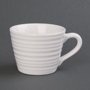 Taza de caf' Aroma Olympia blanca-230ml (Caja 6). 6 ud. dh638