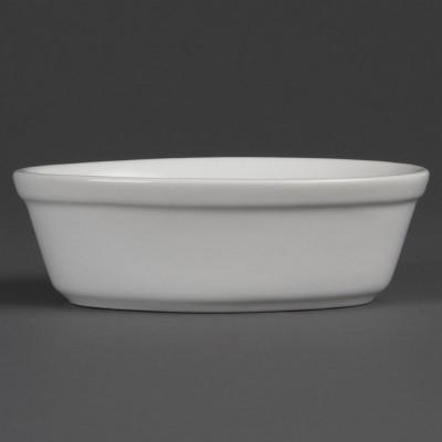 Bols de pastel ovalados blancos 161 x 116mm Olympia. 6 ud. dk807
