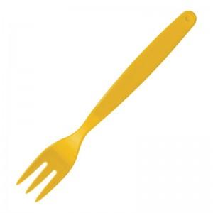 Tenedor policarbonato amarillo Kristallon. 12 ud. dl119