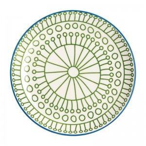 Plato verde Olympia Fresca-178mm (Caja6). 6 ud. dr768