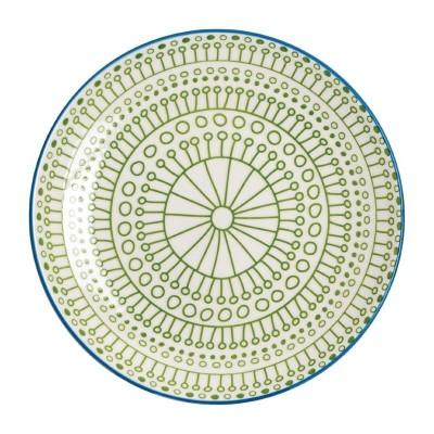 Plato verde Olympia Fresca-268mm (Caja 4). 4 ud. dr769
