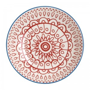 Cuenco plano rojo Olympia Fresca- 195x44mm 630ml (Caja 6). 6 ud. dr771