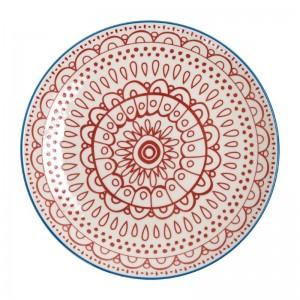 Plato rojo Olympia Fresca-268mm (Caja 4). 4 ud. dr774