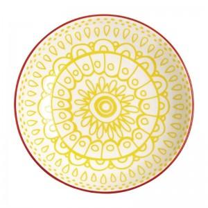 Cuenco plano amarillo Olympia Fresca-195x44mm 630ml. 6 ud. dr776