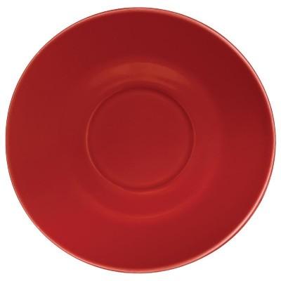 Plato Olympia para tazas de 227ml y 341ml rojo (Caja 12). 12 ud. gl047