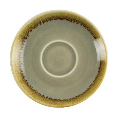 Plato taza cafe Olympia Kiln Musgo 115mm (Caja 6) gp477