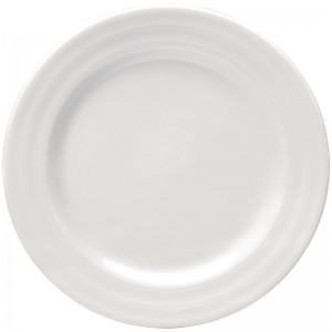 Plato llano Intenzzo porcelana blanca 250mm (Caja 4). 4 ud. gr003