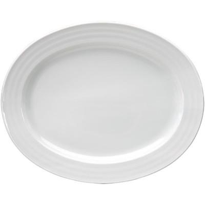 Bandeja ovalada Intenzzo porcelana blanca 300x240mm gr010
