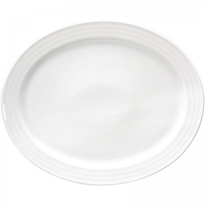 Bandeja ovalada Intenzzo porcelana blanca 310x380mm gr012