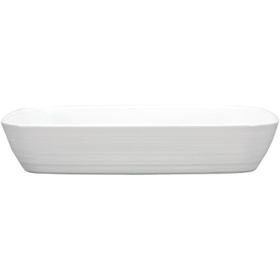 Rustidera rectangular Intenzzo porcelana blanca gr022