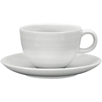 Taza te Intenzzo porcelana blanca 260ml con plato (Caja 4). 4 ud. gr030