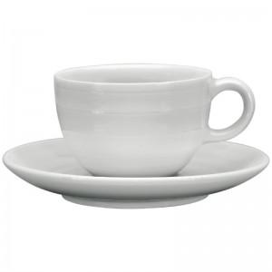 Taza caf' solo apilable Intenzzo porcelana blanca 110ml con plato (Caja 4). 4 ud. gr031