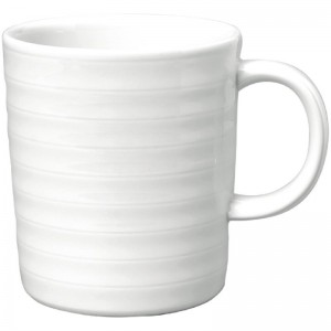 Taza mug Intenzzo porcelana blanca 330ml (Caja 4). 4 ud. gr032