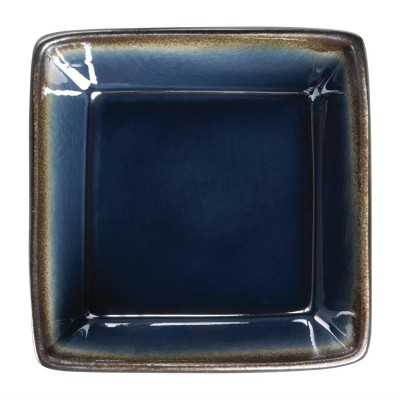 Cuenco cuadrado Olympia Nomi azul 50(Al)x110mm 341ml (Caja 6). 6 ud. hc337
