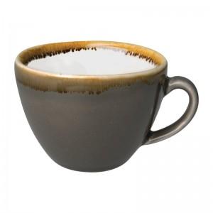 Taza caf' con leche Olympia Kiln Humo 230ml (Caja 6). 6 ud. hc390