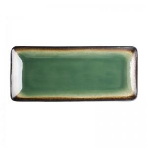 Bandeja rectangular Olympia Nomi verde 245x120mm (Caja 6). 6 ud. hc530