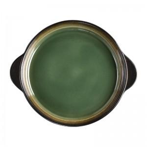 Bandeja redonda Olympia Nomi verde 190()mm (Caja 6). 6 ud. hc532