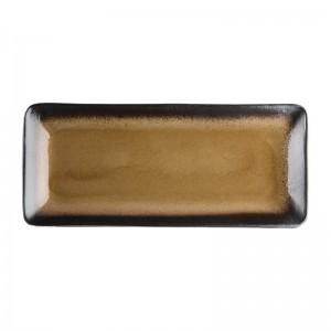 Bandeja rectangular Olympia Nomi amarilla 245x120mm (Caja 6). 6 ud. hc534