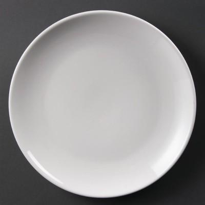 Platos sin borde blancos 250mm Olympia. 12 ud. u079