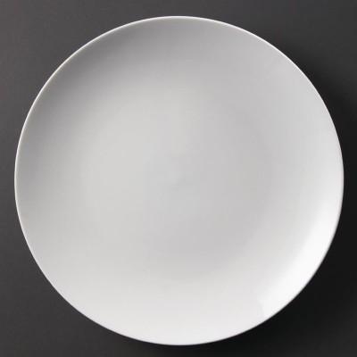 Platos sin borde blancos 310mm Olympia. 6 ud. u081