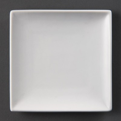 Platos cuadrados blancos 140mm Olympia. 12 ud. u153