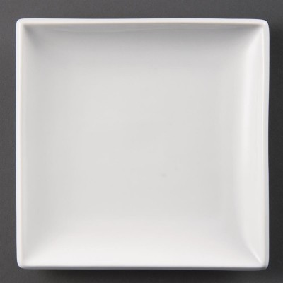 Platos cuadrados blancos 180mm Olympia u154