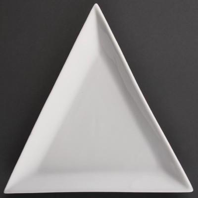 Platos triangulares blancos 180mm Olympia. 12 ud. u166