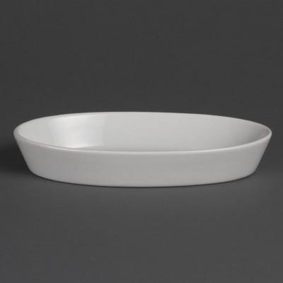 Fuentes ovaladas blancas 195 x 110mm Olympia. 6 ud. w418