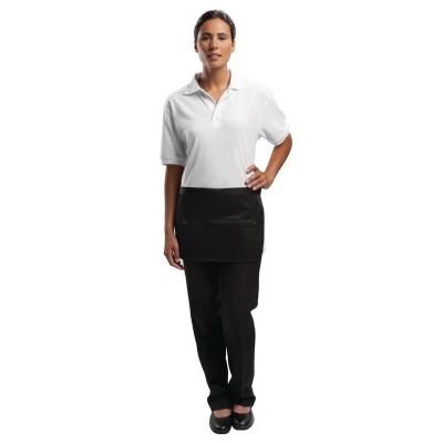 Delantal con bolsillo de cremallera color negro Whites a587