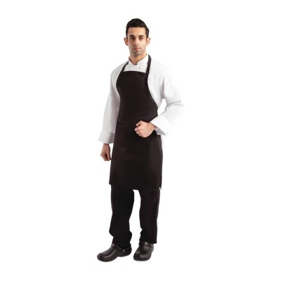 Delantal con peto ajustable negro Chef Works a924