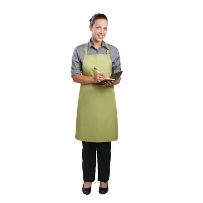 Delantal con peto Chef Works cuello ajustable lima b190