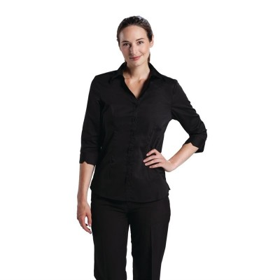 Camisa señora Uniform Works negra talla M b314-m