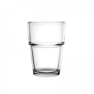 Vaso bajo apilable Olympia vidrio endurecido 200ml. 12 ud. gm580