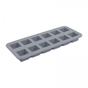 Bandeja 12 cubitos hielo Vogue silicona gris da526