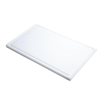 Tabla corte Gastro-M PE alta densidad GN 1/1 15mm borde acanalado blanca gn332