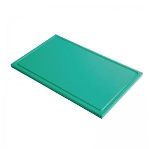 Tabla corte Gastro-M PE alta densidad GN 1/1 15mm borde acanalado verde gn335