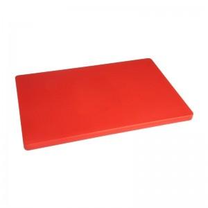 Tabla de cortar Hygiplas de baja densidad roja-600x450x20mm hc878