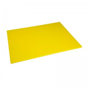 Tabla de cortar Hygiplas de baja densidad amarilla- 600x450x10mm hc883