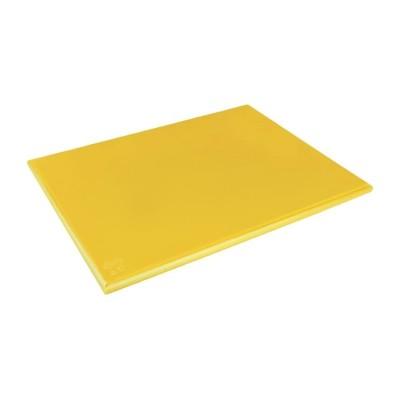 Tabla de corte de alta densidad extra grande amarilla Hygiplas j045