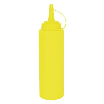 Botella para salsa amarillo 340ml Vogue k144