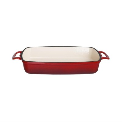 Fuente de hierro rectangular Vogue roja gh319