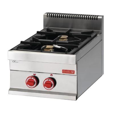 Cocina gas Gastro-M 2 quemadores 65/40 PCG gl916