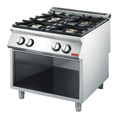 Cocina gas Gastro-M 4 quemadores 70/80 PCG gl927