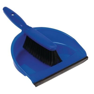 Juego de recogedor y escoba blando Azul cc932