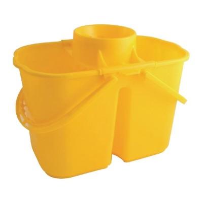 Cubos de fregona codificados por colores dobles Amarillo cd503