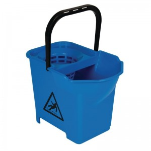 Cubo de fregona con codigo de color Azul s225